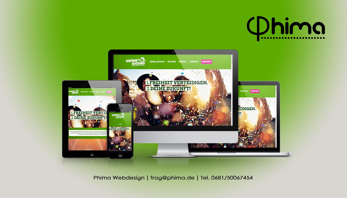 Webdesign – Grüne Jugend NRW