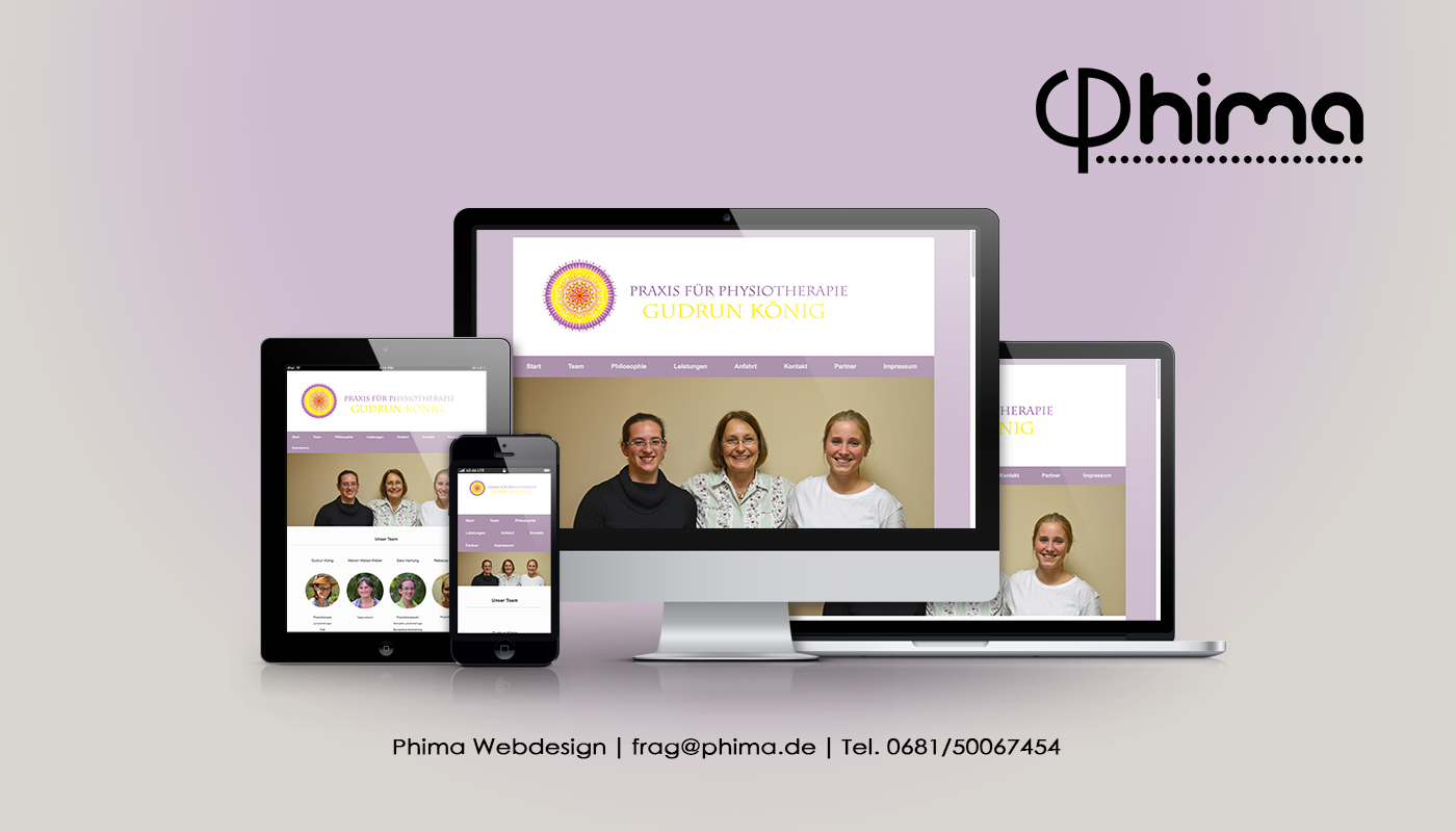 Webdesign – Physiotherapie Gudrun König