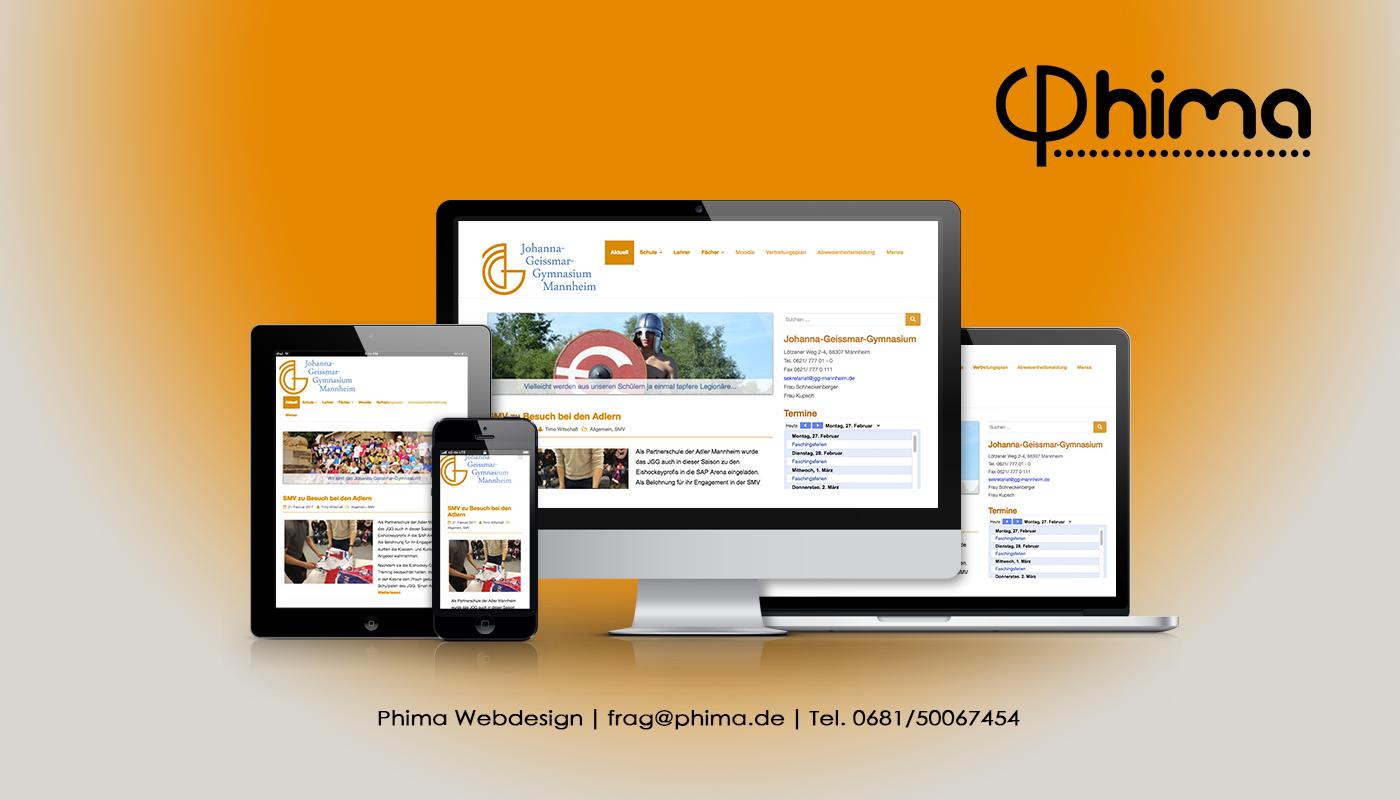 Webdesign – Johanna-Geissmar-Gymnasium