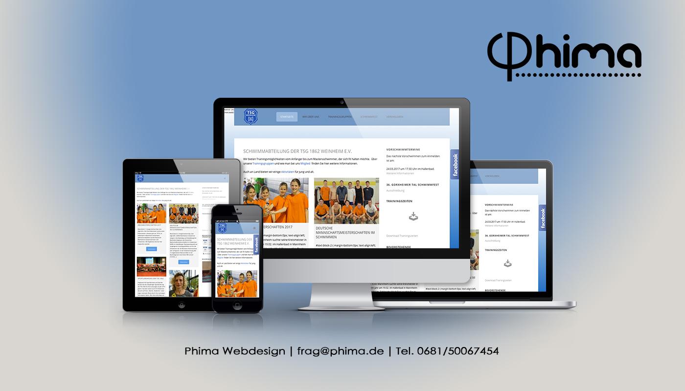 Webdesign – TSG Mannheim