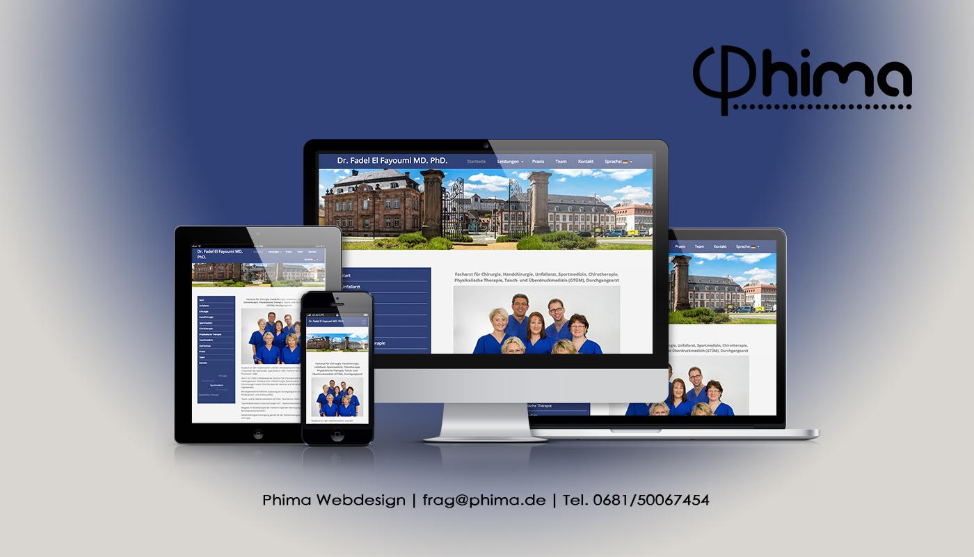Webdesign – Praxis Dr. Fayoumi